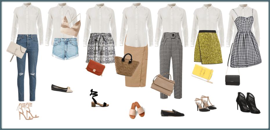 7 ways of wearing white blouse