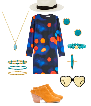 Turquoise and Tangerine