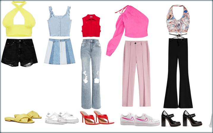 School week of outfits