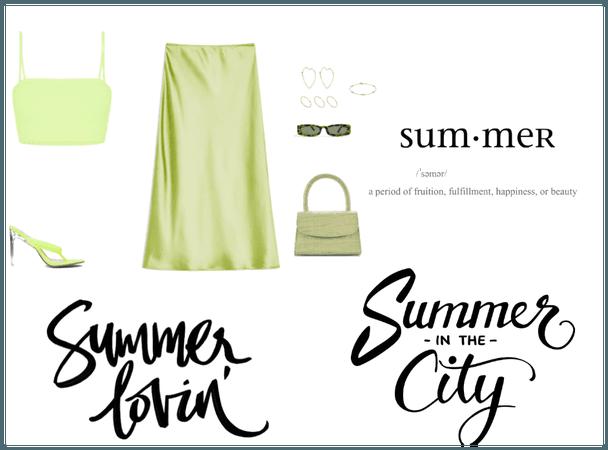 green in summer