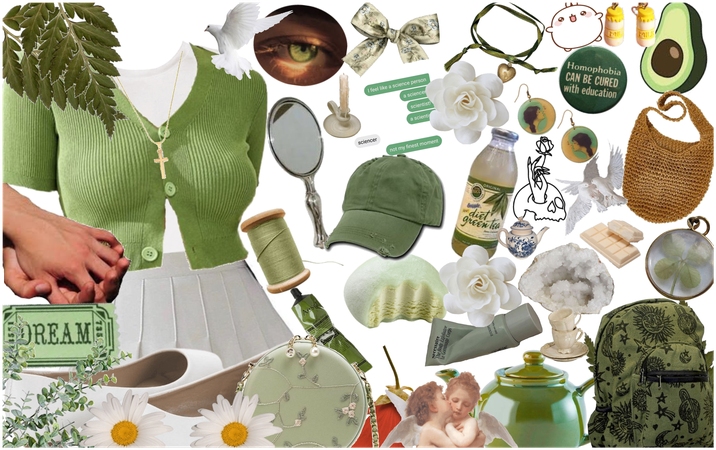 """""""Green Soft Aesthetic Fit"""""""