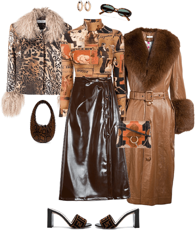 Couldn't decide on a coat/purse combo