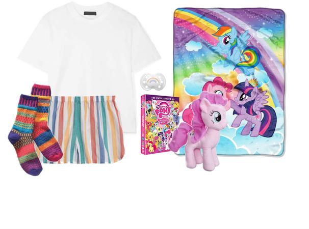 sleep v12 rainbow pony