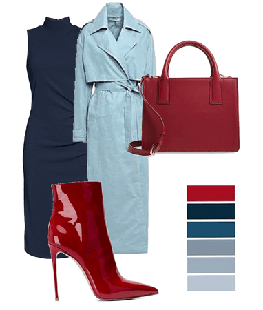 baby blue x red