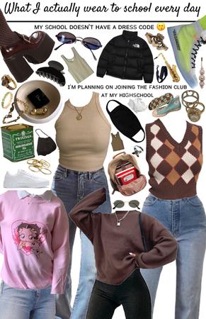 My high school wardrobe 💃💅