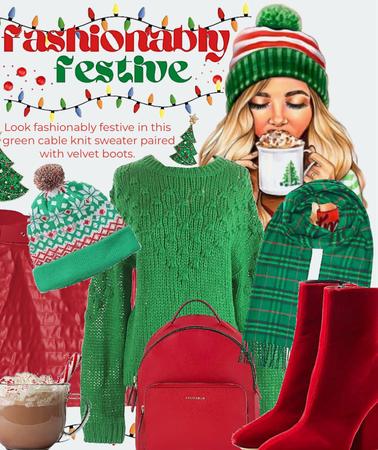 fashionable festive