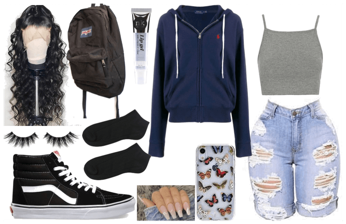 casual school fit