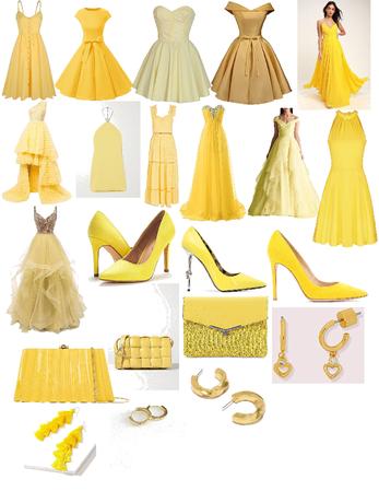 Girls Yellow Formal Wear