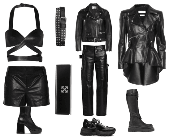 3 leather outfits
