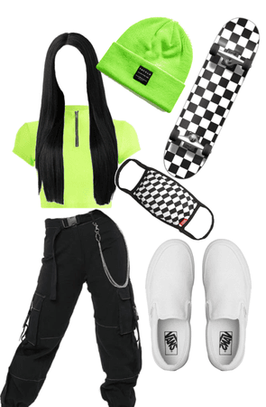 lime green outfit!