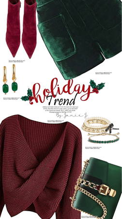 holiday trend : red and green