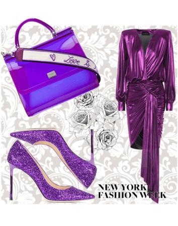 purple glowing