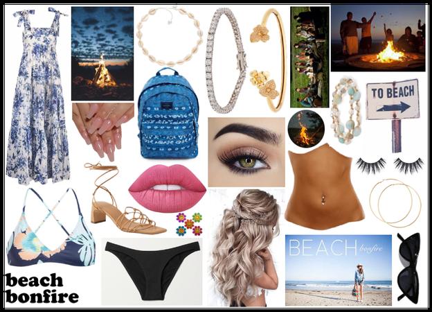 Summer Beach Bonfire