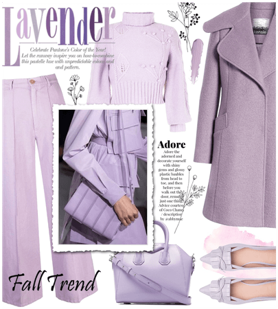 Fall trend: sweet lavender 💜💜💜