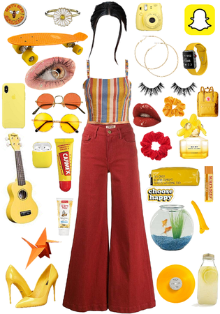 yellow and red aesthetic