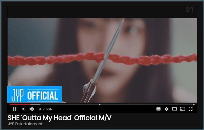 "SHE ""Outta My Head"" M/V"