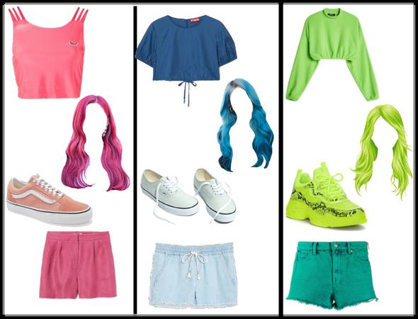 pink, blue, green challenge