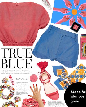 true blue sorbet | denim shorts style