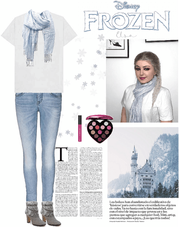 Modern Elsa Halloween outfit