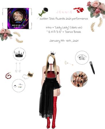 """Lee Jennie at """"Golden Disk Awards 2021"""" 01/09/2021-01/10/2021"""