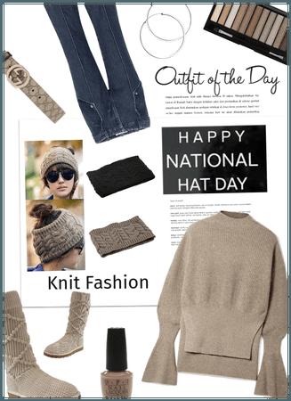 OOTD/Knit wear/hat day