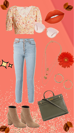 Cute Floral Fall Outfit