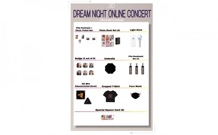 3D//DREAM NIGHT Online Concert Official Merch