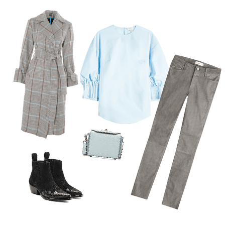 Grey and light blue
