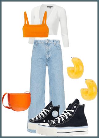 blue yellow orange