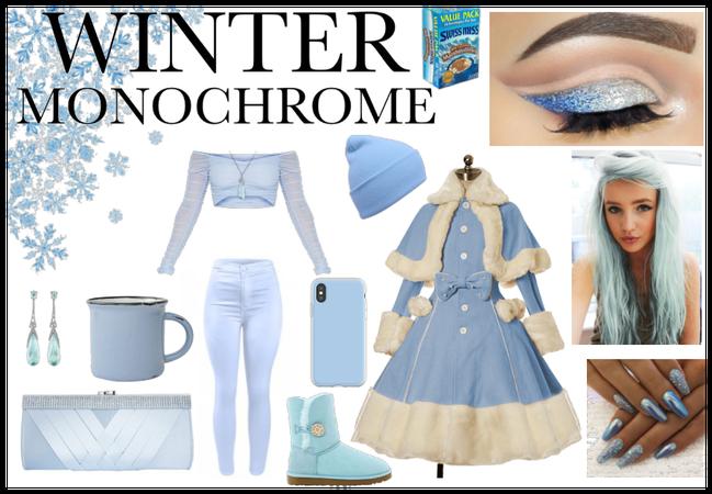 Winter Blue Monochrome