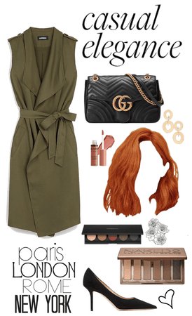 stylish and confidence in green