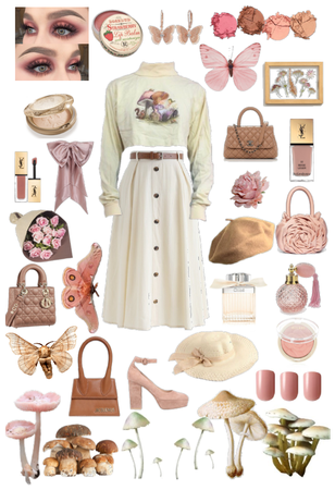 Beige and pink nature