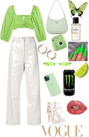 Lime Green Knit Vest