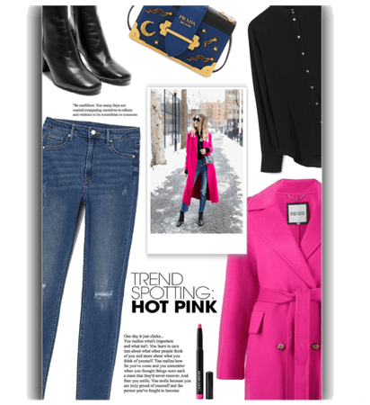 Hot Pink Coat Outfit