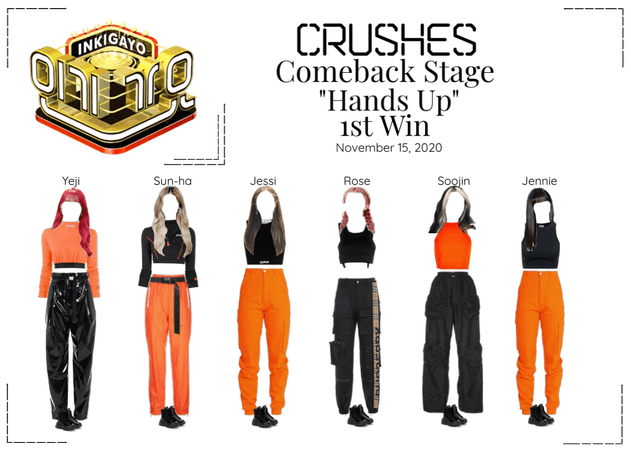 """Crushes (호감) """"Hands Up"""" Comeback Stage 1st Win"""