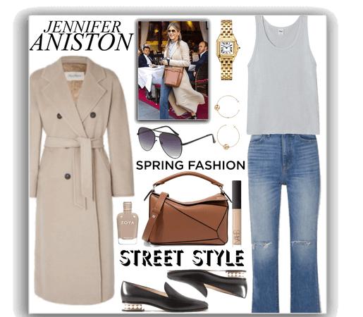 spring street style - Jennifer Aniston