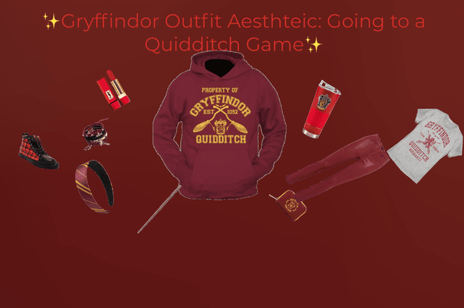 Gryffindor Outfit Aesthetic: Going to a Quidditch Game
