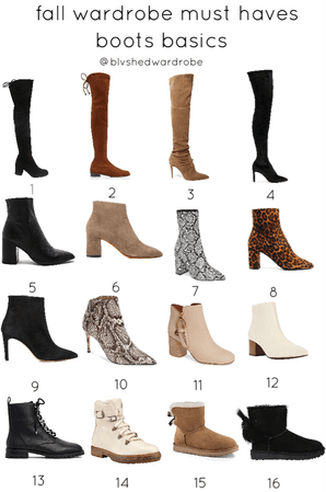 fall 2019 boots basics must haves