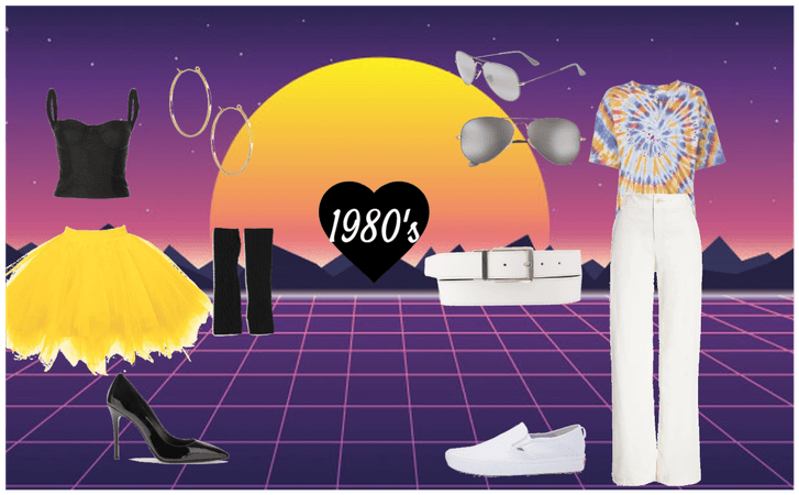 1980's Men and Women Outfits