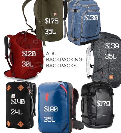 Adult Backpacking Backpacks