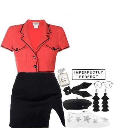 red & black