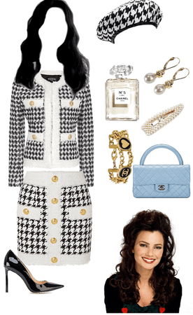 The Nanny Black and White Outfit