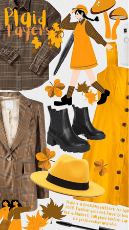 plaid layers in fall