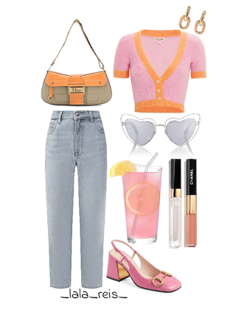 Pink & Orange Outfit