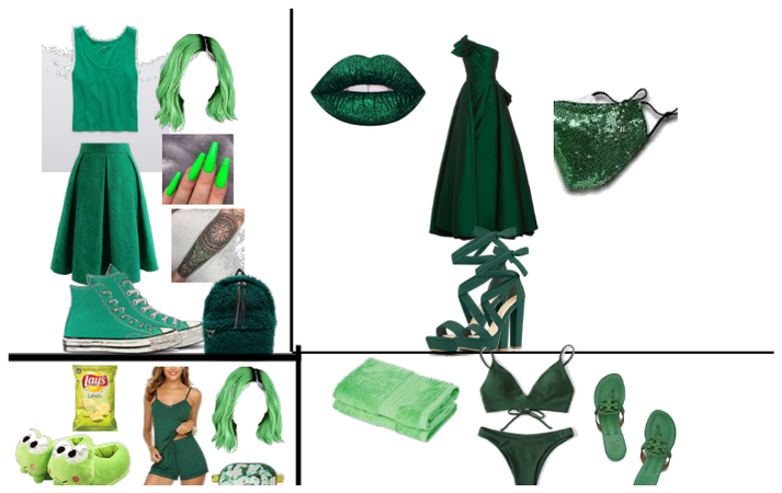 green outfits!