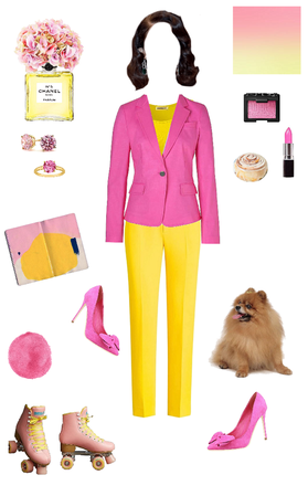 Hot Pink and Bright Yellow
