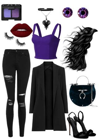 Maleficent. Dark Fairy. Black. Purple.