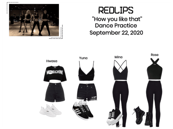 RedLIPS ''How you like that'' Dance Practice