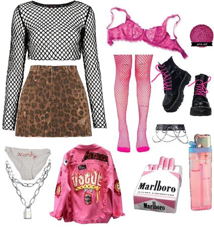 Pink Punk Look