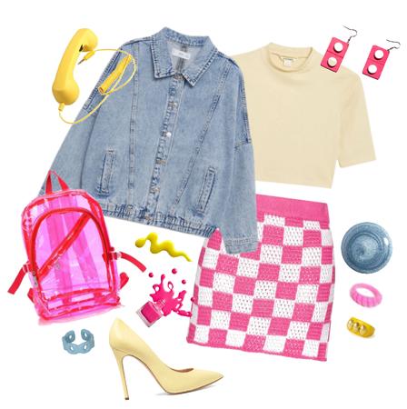 Checkered Pink Skirt